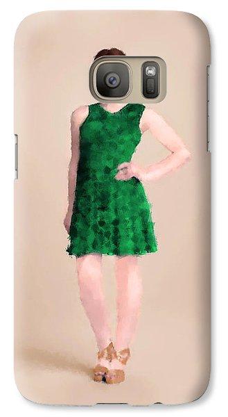 Galaxy Case featuring the digital art Ainsley by Nancy Levan