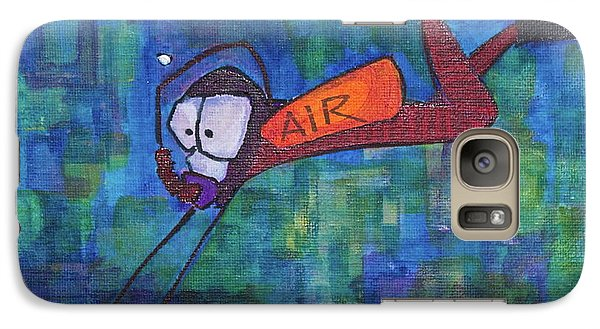 Galaxy Case featuring the painting air by Donna Howard