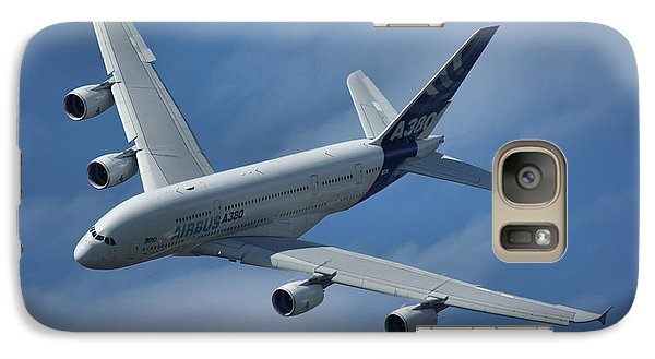 Galaxy Case featuring the photograph Airbus A380 by Tim Beach