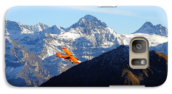 Airplane In Front Of The Alps Galaxy S7 Case