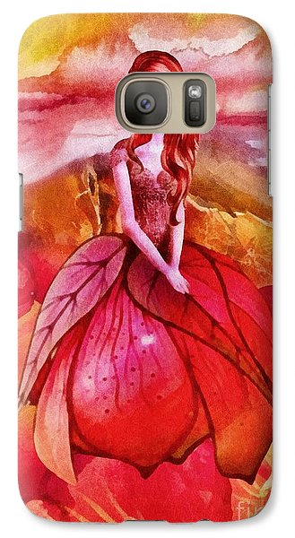 Galaxy Case featuring the painting Aithne by Mo T