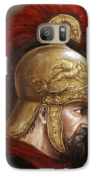 Galaxy Case featuring the painting Ajax by Arturas Slapsys