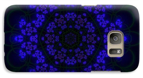 Galaxy Case featuring the digital art Akabala Lightmandala by Robert Thalmeier