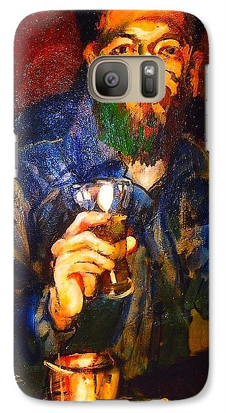 Galaxy Case featuring the painting Al by Les Leffingwell