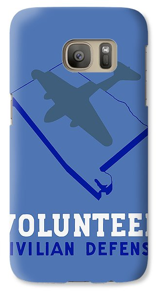 Galaxy Case featuring the painting Alabama Civilian Defense - Wpa by War Is Hell Store