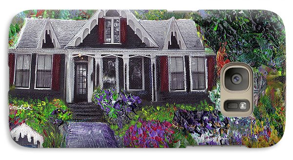 Galaxy Case featuring the painting Alameda 1854 Gothic Revival - The Webster House by Linda Weinstock