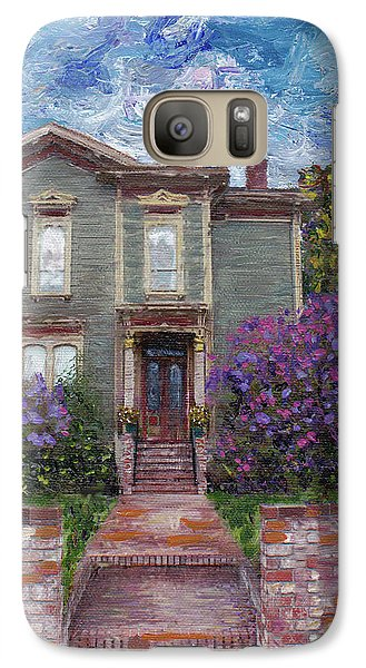 Galaxy Case featuring the painting Alameda 1888 - Italianate by Linda Weinstock