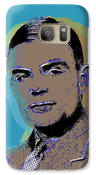 Galaxy Case featuring the digital art Alan Turing by Jean luc Comperat