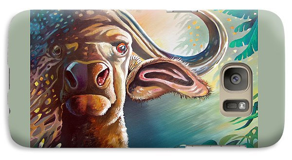 Galaxy Case featuring the painting Alarmed by Anthony Mwangi