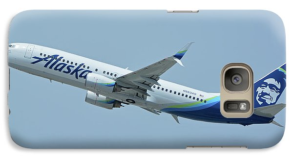 Galaxy Case featuring the photograph Alaska Boeing 737-890 N563as Los Angeles International Airport May 3 2016 by Brian Lockett