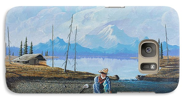 Galaxy Case featuring the painting Alaskan Atm by Richard Faulkner