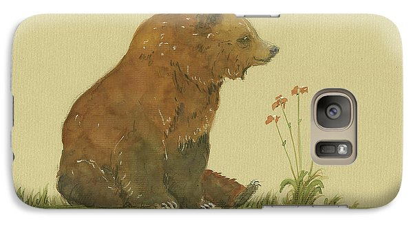 Bear Galaxy S7 Case - Alaskan Grizzly Bear by Juan Bosco