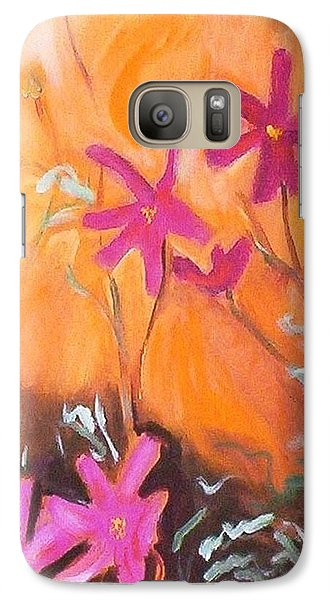Galaxy S7 Case featuring the painting Alba Daisies by Winsome Gunning