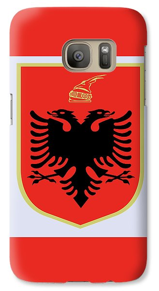 Galaxy Case featuring the drawing Albania Coat Of Arms by Movie Poster Prints