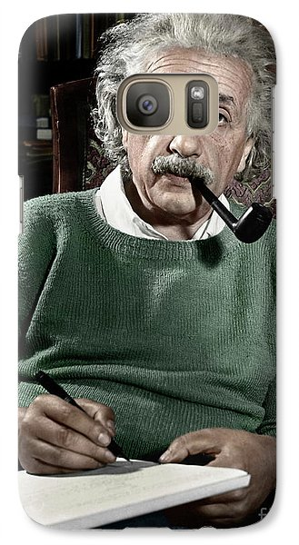 Albert Einstein Galaxy S7 Case by Granger