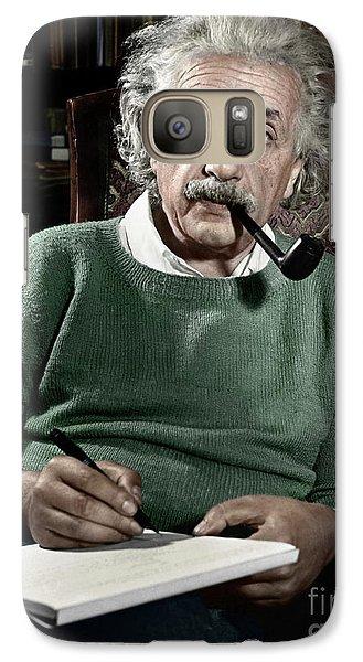 Portraits Galaxy S7 Case - Albert Einstein - To License For Professional Use Visit Granger.com by Granger
