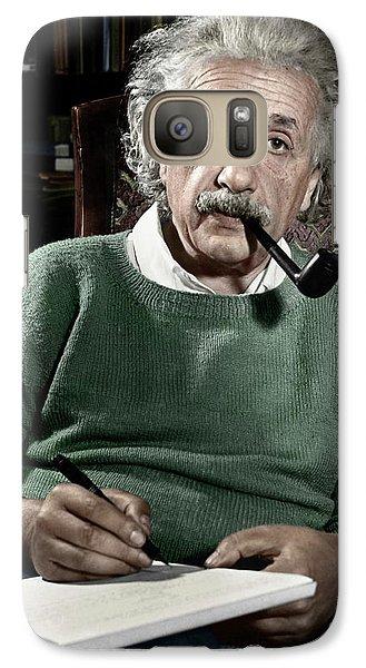 Portraits Galaxy S7 Case - Albert Einstein by Granger