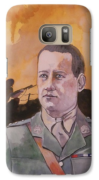 Galaxy Case featuring the painting Albert Jaka Vc by Ray Agius