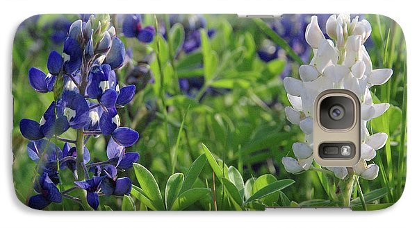 Galaxy Case featuring the photograph Albino And Blue Bluebonnet by Robyn Stacey