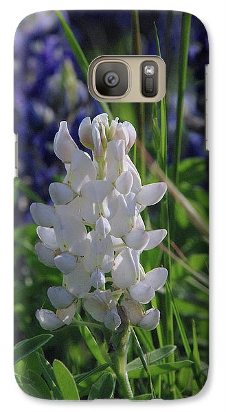 Galaxy Case featuring the photograph Albino Bluebonnet by Robyn Stacey