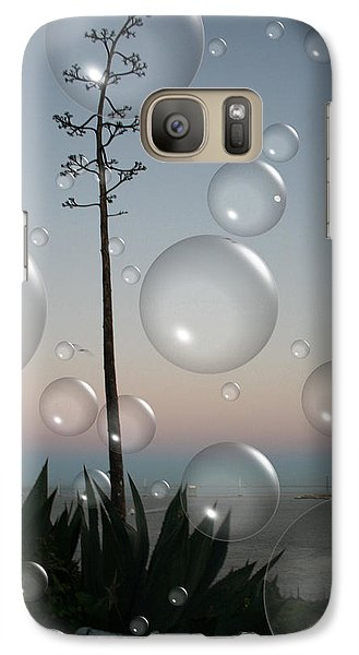 Galaxy Case featuring the digital art Alca Bubbles by Holly Ethan