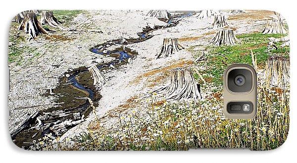 Galaxy Case featuring the photograph Alder Lake Stumps by Joseph Hendrix