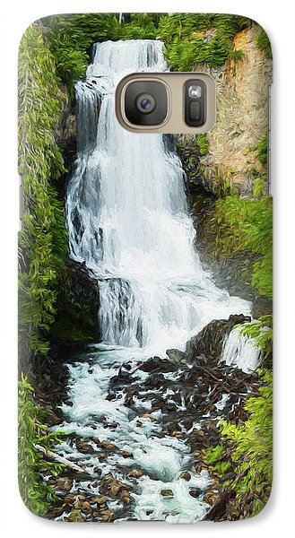 Galaxy Case featuring the photograph Alexander Falls - 2 by Stephen Stookey