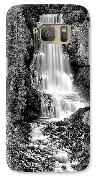 Galaxy Case featuring the photograph Alexander Falls - Bw 1 by Stephen Stookey