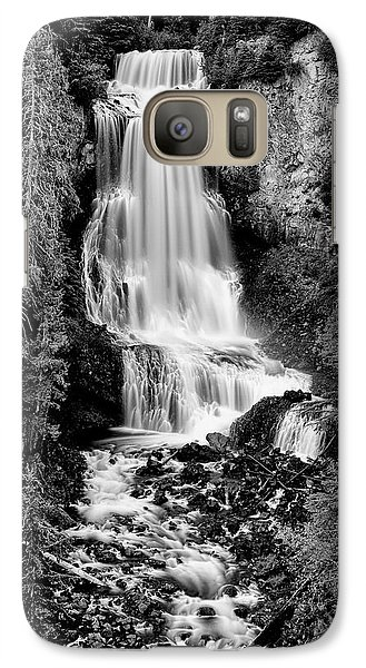 Galaxy Case featuring the photograph Alexander Falls - Bw 2 by Stephen Stookey