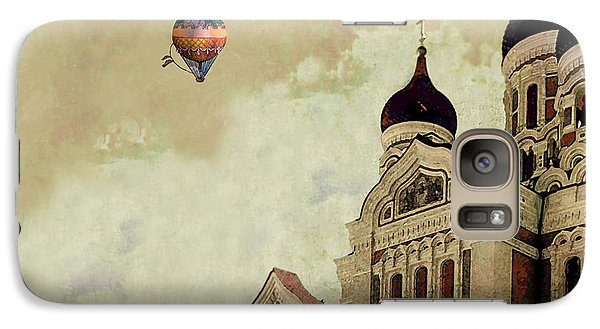 Galaxy Case featuring the digital art Alexander Nevsky Cathedral In Tallin, Estonia, My Memory. by Jeff Burgess