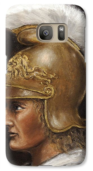 Galaxy Case featuring the painting Alexander The Great by Arturas Slapsys