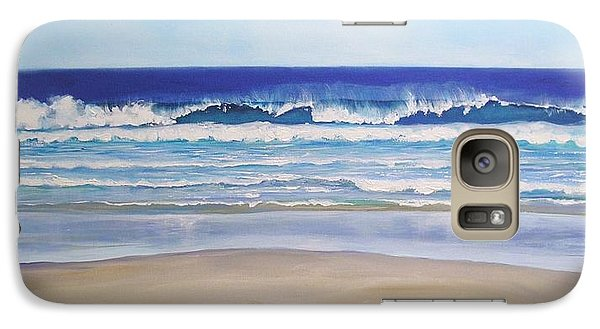 Galaxy Case featuring the painting Alexandra Bay Noosa Heads Queensland Australia by Chris Hobel