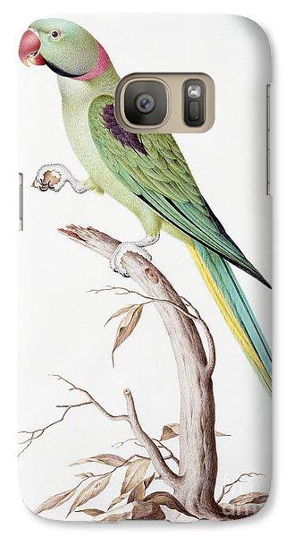 Parakeet Galaxy S7 Case - Alexandrine Parakeet by Nicolas Robert
