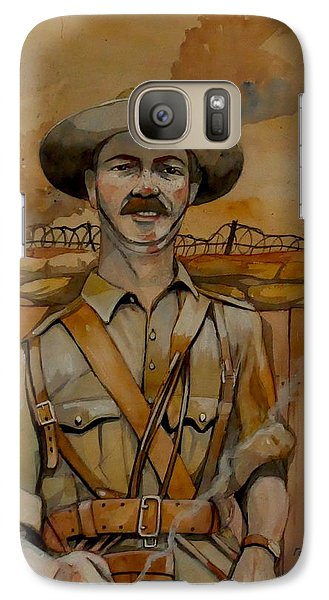 Galaxy Case featuring the painting Alfred Shout Vc by Ray Agius
