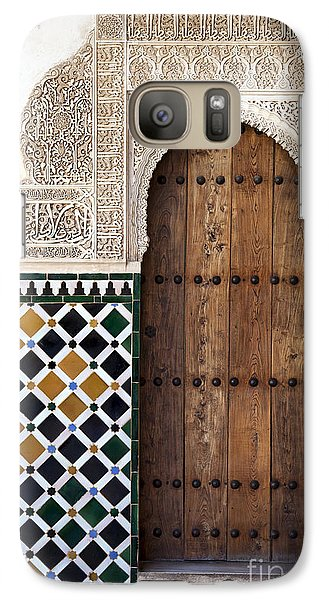 Alhambra Door Detail Galaxy Case by Jane Rix