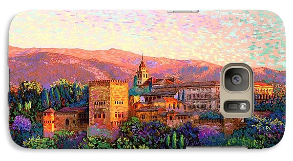 Galaxy Case featuring the painting Alhambra, Grenada, Spain by Jane Small