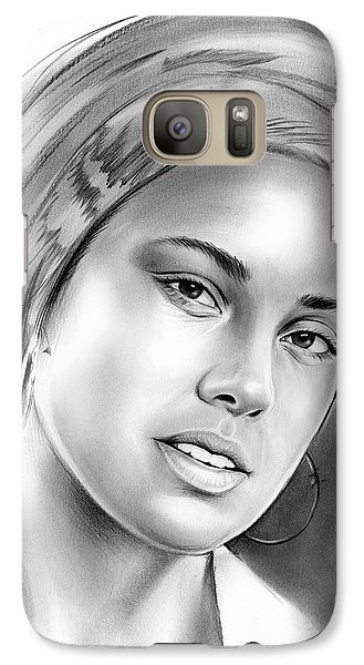 Rhythm And Blues Galaxy S7 Case - Alicia Keys by Greg Joens