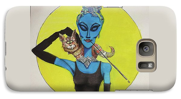 Galaxy Case featuring the painting Alien At Tiffany's by Similar Alien