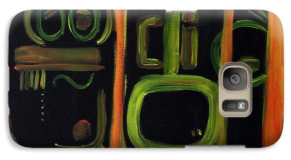 Galaxy Case featuring the painting Alien Interception by Lynda Lehmann