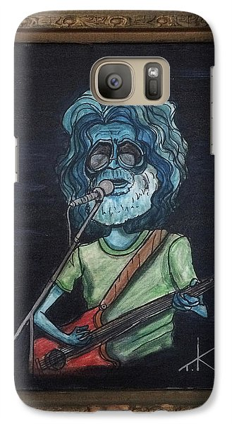 Galaxy Case featuring the painting Alien Jerry Garcia by Similar Alien