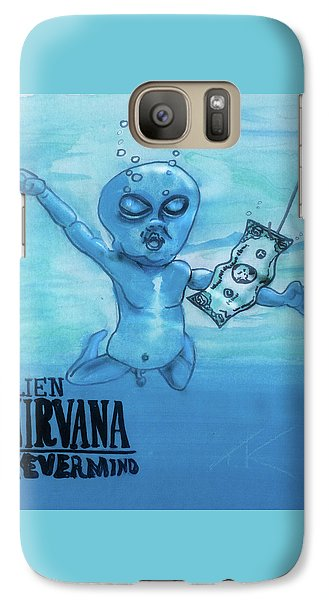 Galaxy Case featuring the painting Alien Nevermind by Similar Alien
