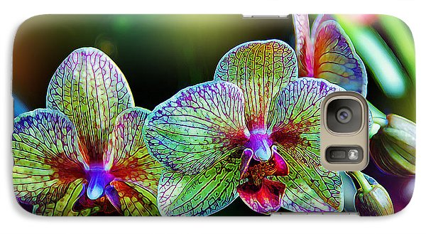 Orchid Galaxy S7 Case - Alien Orchids by Bill Tiepelman