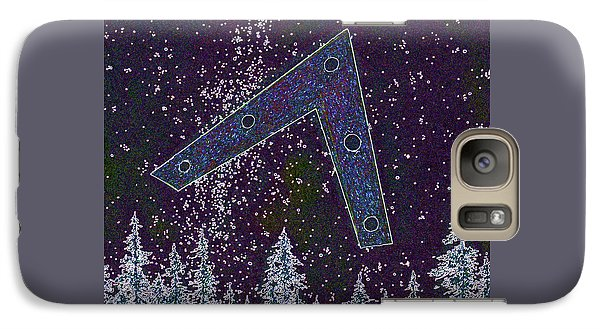 Galaxy Case featuring the painting Alien Skies Ufo by James Williamson