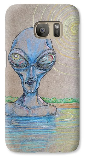 Galaxy Case featuring the drawing Alien Submerged by Similar Alien