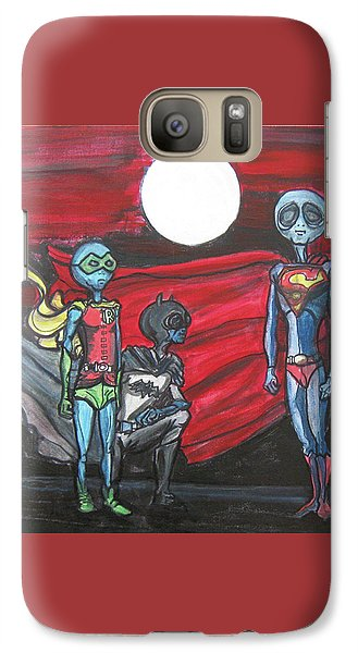 Galaxy Case featuring the painting Alien Superheros by Similar Alien