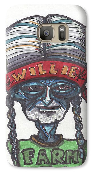 Galaxy Case featuring the drawing alien Willie Nelson by Similar Alien