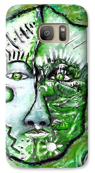 Galaxy Case featuring the painting Alive A Mask by Shelley Bain