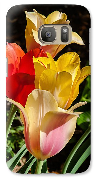 Galaxy Case featuring the photograph All In A Pretty Row by Jim Moore