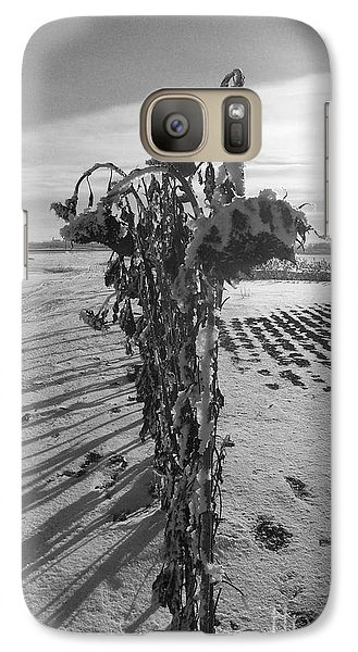 Galaxy Case featuring the photograph All In A Row by Mary Mikawoz