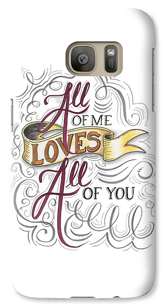 Galaxy Case featuring the drawing All Of Me Loves All Of You by Cindy Garber Iverson